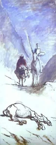 Don quixote sancho pansa and the dead mule xx musee dorsay p